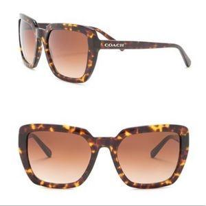 Coach 57mm Oversized Square Sunglasses